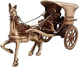 Two Moustaches Brass Horse Cart Big Showpiece