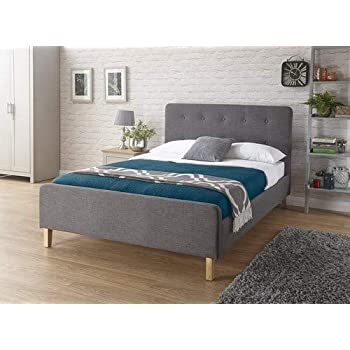 Grey, 4ft6 Grey or Mink 5ft Kingsize Jumpi Bergen button fabric bed 4ft6Double