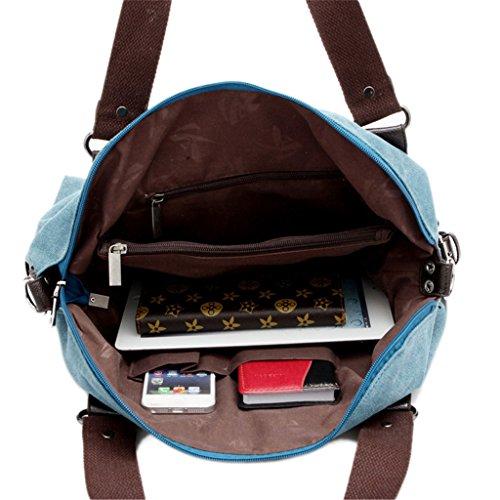 Handtasche Leinwand Totes Schulterbeutel Cross Body Allgleiches Auspicious beginning Retro Blau xq01w