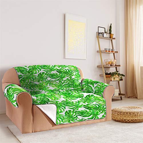 Epig Sofa Couch Cover ❤️️ Blatt Druck Rutschfeste Gesteppte Sofa Couch Abdeckung Stuhl Hund Kinder Mat Möbel Protector - Bling Logo Tee