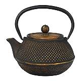 Tealøv THÉIÈRE en Fonte 800 ML - Théière Fonte de Haute qualité avec infuseur - Entièrement émaillée de l'intérieur - Prépare Une Tasse de thé Parfaite - Design Authentique à Picots Arare (Cuivre)