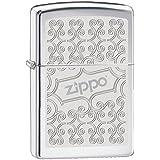 Zippo 60001060 Scroll Briquet Laiton High Polish Chromé 3,5 x 1 x 5,5 cm