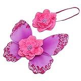 Baby-Foto Requisiten Neugeborene baby fotoshooting Fotografie Kostüm Blumen Stirnband Butterfly Wings - Lila, one size