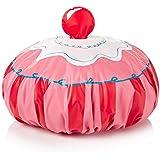 NPW Cupcake Fun - Gorro de ducha, color blanco y rojo