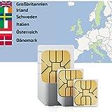 travSIM 4GB mobiles Internet Datenvolumen in Italien,Österreich,Großbritannien,Nord Irland,Irland,Dänemark,Schweden