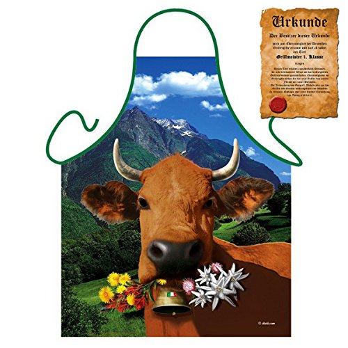 Lustige Grillschütze für Alpen Fans Südtirol : Italienische braune Kuh !! mit GRATIS Urkunde !! One Size