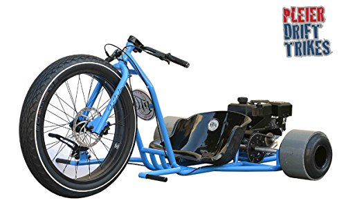 Pleier motorisiertes Drifttrike blau Kart - Drifttrikegang - Fat Drifter Driftbike