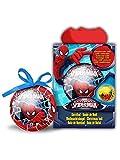 Palla luminosa di Natale Spiderman 7.5 cm