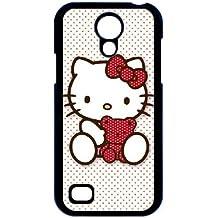 i9190 caso de Hello Kitty C0H48B5HF funda Samsung Galaxy S4 Mini funda negro 384611