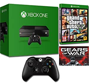 Pack Xbox One 500 Go + 2ème manette sans fil + GTA V + Gears of War [téléchargement]