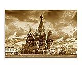 100x70cm Bild Sepia Moskau Russland Roter Platz