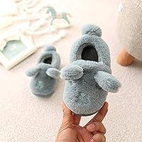 LaxBa Junge Mädchen Stock Socken Anti-rutsch Kinder Hausschuhe Rot, 18/19 (innere Länge 18 cm)