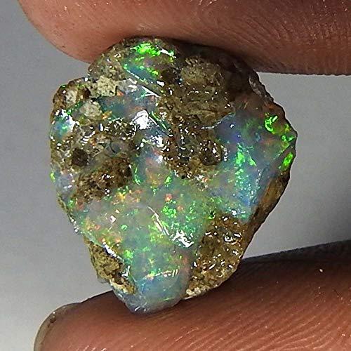 RADHEY Krishna GEMS 04.95Cts. 100% natürlicher äthiopischer Multi Fire Opal Facette rauer Exemplar Edelstein Cts-monitor