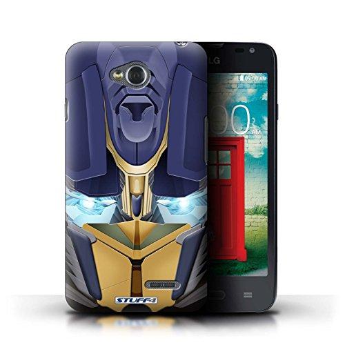 Kobalt® Imprimé Etui / Coque pour LG L65/D280 / Opta-Bot Jaune conception / Série Robots Opta-Bot Jaune
