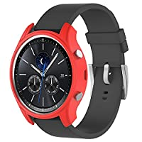 Tuff-Luv Silicone Wrist Watch Strap Band for Samsung Gear S3 Classic Smartwatch - Red