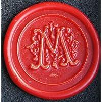 Kit cire Rimini, gravure 1 lettre « M » en écriture décorative, 1 bâton de cire à cacheter inclus