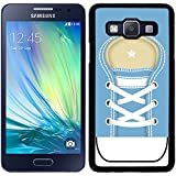Funda carcasa para Samsung Galaxy A5 diseño zapatilla cordones color azul borde negro