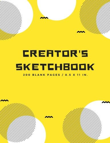 Creator's Sketchbook: Blank Drawing Paper for Drawing, Sketching, Doodling, Art (Extra Large, 200 Pages) por Uncle Amon