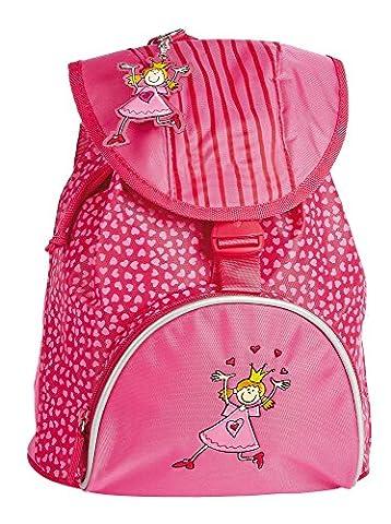 sigikid 23060 enfant fille, sac à dos rose vif, 'Pinky Queeny'