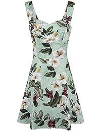 Hell Bunny Tahiti Mini Dress Kleid grün