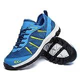 Uomo Scarpe da Ginnastica Sportive Sneakers Estive Mesh Casual Trekking Running Basse da Fitness all'Aperto Blu EU41=CN42