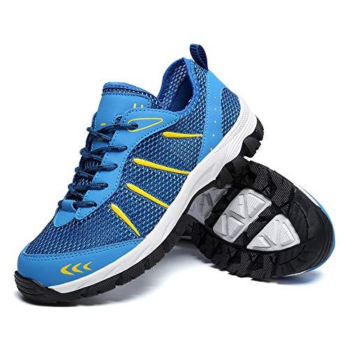 Scarpe da Sportive Ginnastica Uomo Estive Respirabile Mesh Casual Trekking Running Sneakers da Fitness all'Aperto EU43=CN44
