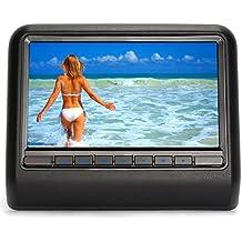 """Pumpkin Reproductor de DVD CD MP3 Multimedia Para Reposacabezas Coche (10.1"""" Pantalla, Resolución 1024*600, IR, FM, USB, SD) Soporta Juegos / Fácil de Poner DVD / Home-use, Negro"""