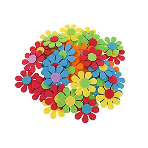 Loisirs Creatifs Scrapbooking - 50pcs Fleur Mixte Mousse Façonne Enfants Décoration