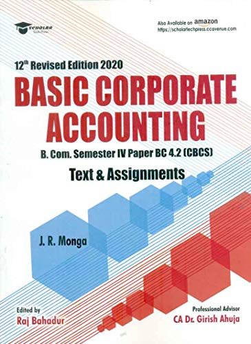 BASIC CORPORATE ACCOUNTING (TEXT & ASSIGNMENTS)
