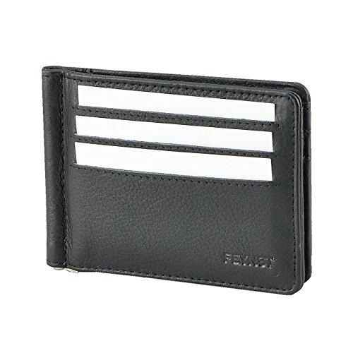 Echt Leder Herren Geldbörse Brieftasche Geldbeutel bis 9 Karten Kartenetui Kreditkarten Kreditkartenetui Schwarz