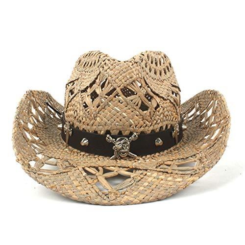 zlhcich Panama Sonnenhut Sonnenhut breiter Krempe t Handmade Weave Fashion Gürtel Sommer Strand Cowgirl Jazz Sombrero Sun Cap Gruppe Stroh Coffee2 -