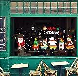 LCXYYY Fensterfolie Weihnachten Schneeflocken Fensterbilder Statisch Haftende PVC-Sticker Weihnachten Fensterdeko Aufkleber WandtattooFensteraufkleber Weihnachten Merry Christmas Bahn