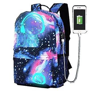 WYCY Mochila para portátil Bolsas de Negocios con USB Puerto de Carga, Escuela de Oso Luminoso Mochila se Ajusta bajo 15,6Pulgadas portátil y Notebook