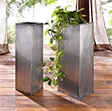 2er Metallsäule Titan zum Bepflanzen