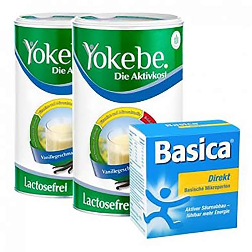 Yokebe Aktiv Paket Laktosefrei: Doppelpack Aktivkost + Basica Direkt, - (3,64 EUR/100g)
