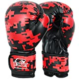 KIDS 4oz, 6oz BOXING KICKBOXING THAI GLOVES BAG MITTS BOXERCISE SPARRING, CHILD (Red Sublimated, 6 Oz)
