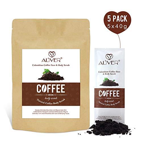 Kaffee-Peeling mit Bio-Kaffee für Gesicht und Körper 100% natürliche Tiefenreinigung und Peeling Body Wash - Körperpeeling für Frauen und Männer