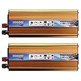 Junww Converter Solar Power Inverter 12V 2000W 12V a 220V AC USB Convertitore d'Onda Converter