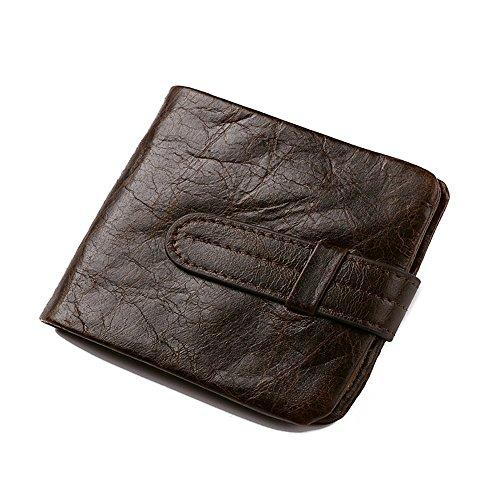 Xingxiu Zeichnen Sie Leder Brieftasche Rindsleder Münztüte Retro Business Geldbörse (Leder Brieftasche Hipster Herren)