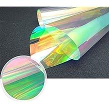 hoho 68cmx200cm camaleón cambiante Color película autoadhesiva de ventana cristal opaco translúcido ventana Tint mate pegatinas para oficina baño