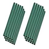 MCTECH 30 Stück Universal Befestigungsclips Klemmschienen für PVC Sichtschutzstreifen Grün