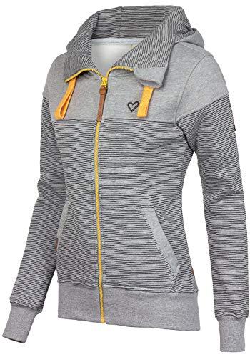 alife and Kickin PALINA Sweat Jacket XS, Steal Stripes - 2