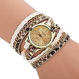 Tenflyer Nueva reloj de señoras de la PU Ronda reloj pulsera serpiente reloj de las mujeres