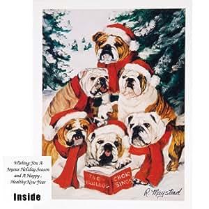 Tierwelt 6 bulldogge chor in weihnachtskarten b robedarf schreibwaren - Weihnachtskarten amazon ...
