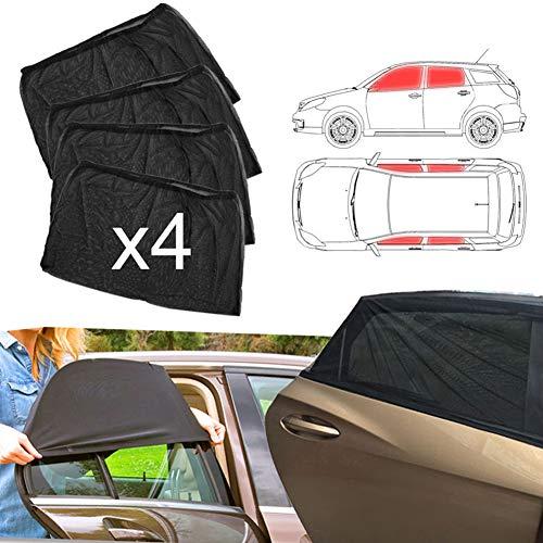 WE-WIN Auto Fenster Schatten - Auto Sun Block Shade Blöcke UV-Strahlen - Abdeckungen vorne hintere Seitenfenster - schützt Baby Kinder und Haustiere (4Pcs)