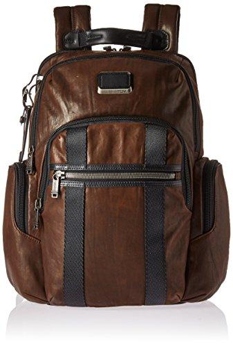 "Tumi Alpha Bravo - Nellis Laptop Backpack 15"", Leather Zaino Casual, 40 cm, 22.285125 liters, Marrone (Dark Brown Leather)"