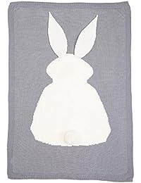 Gigoteuses et nids d'ange Covermason Enfant lapin tricot couverture literie couette Play couverture animaux Kids lèvent couverture berceau Wrap couverture