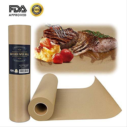 DDSTAR Butcher Paper Kraft Barbecue 18'x 2048' (175Ft) Freezer Food Carta da imballaggio per Alimenti Rotolo Certificazione FDA BBQ Wraps Carta per Fumatori