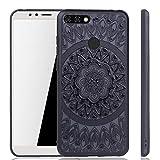 König Design Mandala Hülle geeignet für Huawei Y6 2018 | Silikon Case Back-Cover Motiv Kreis