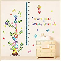 Alphabet Letters Tree Removable Height Chart wall Sticker Kid